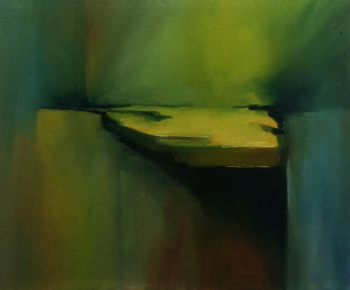 #41 Abstract Ledge (Oil on Canvas on Panel)
