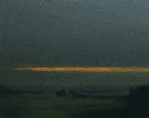#46: Waikato Landscape in mist (Oil on Canvas Panel, 10 x 8 inches)