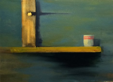 #43: Minimalist Still Life (Oil on Canvas, 33 x 30 cm)