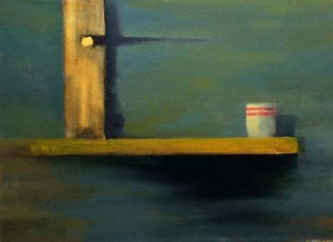 #43: Minimalist Still Life (Oil on Canvas, 33 x 30 cm)