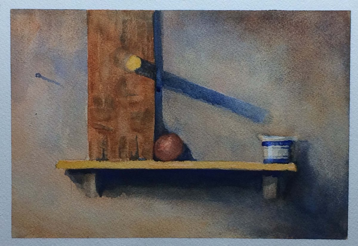 Watercolor still life, June 2016 (size approx A4)