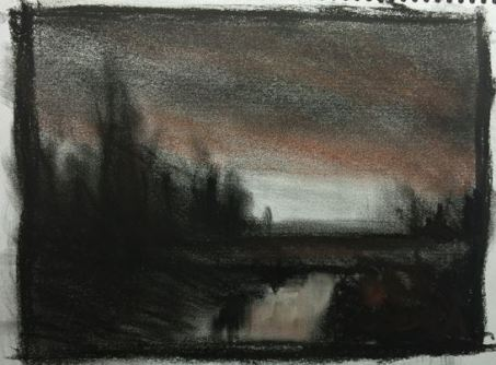 FruitfulDark: Charcoal Landscape