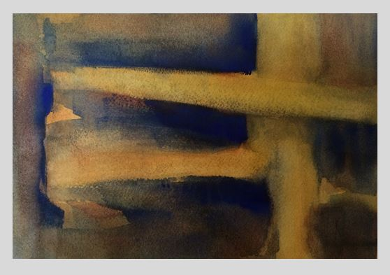 Painting #52: Abstract (Watercolor, Approx. A4 size)