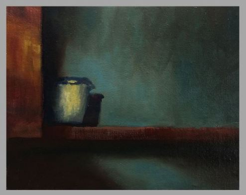 #55: The Shy One (Oil on Canvas Panel, 10 x 8 inches)