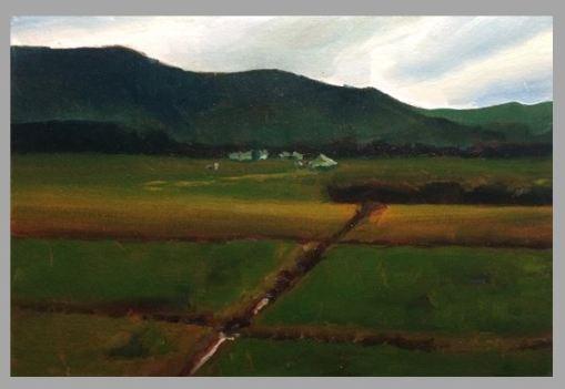 #56: Waikato Landscape (Oil on Canvas Panel, 44 x 30.5 cm)