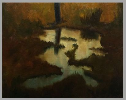 #58: Morning Reflections (Oil on Canvas on Panel)