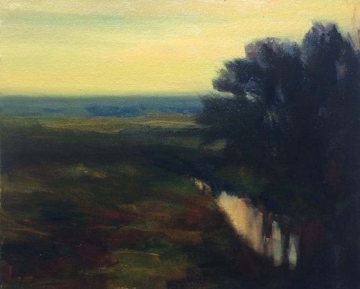 #64: Edge of Camp (Oil on Canvas, 10 x 8 inches)