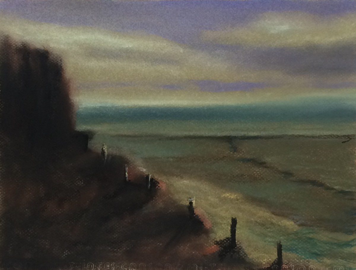 #P3: Almost Home (Pastel on Canson Paper, 10 x 12 inches)