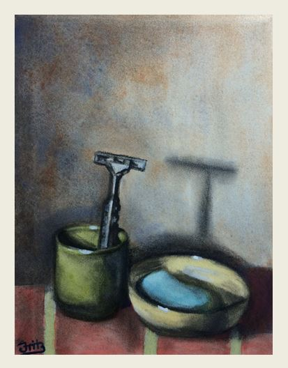 Intimate Objects (Charcoal and Watercolour on Paper)
