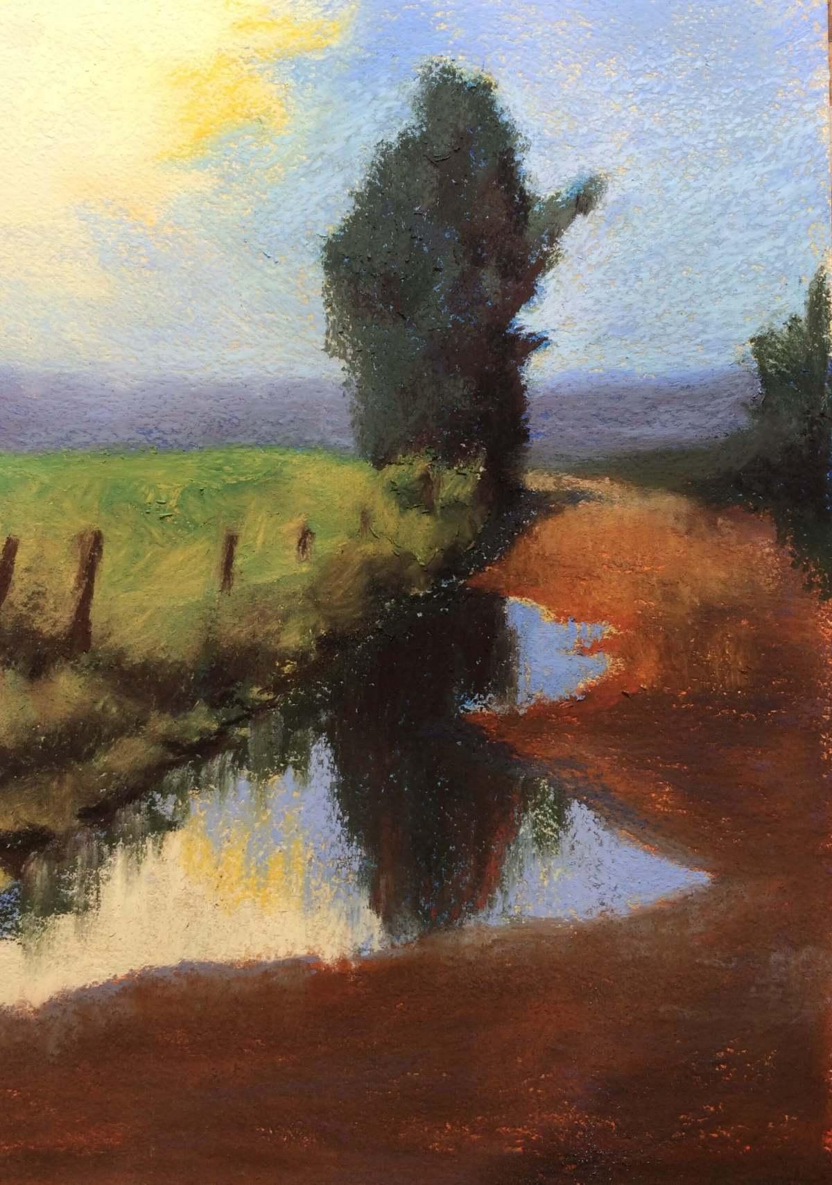 #P10: Summer Rain (Pastel on Paper, A4)