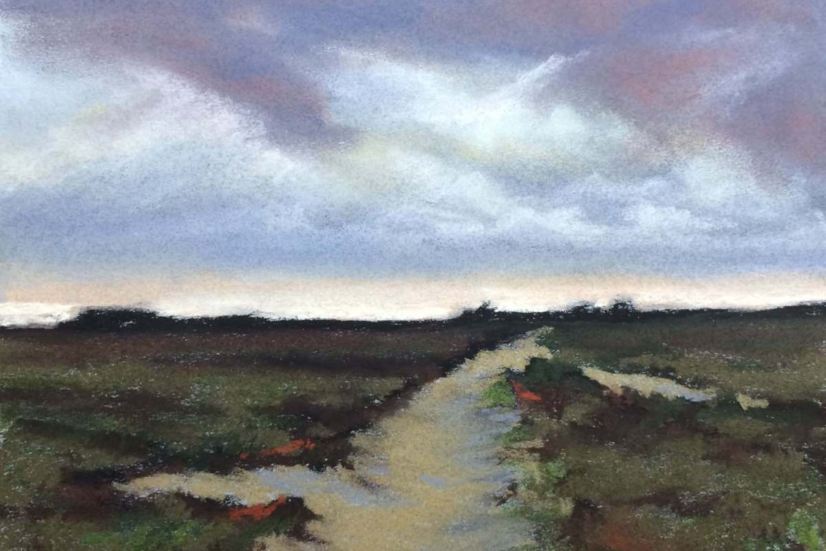 #P12: Landscape after Anton Muave (Pastel on Canson Paper)
