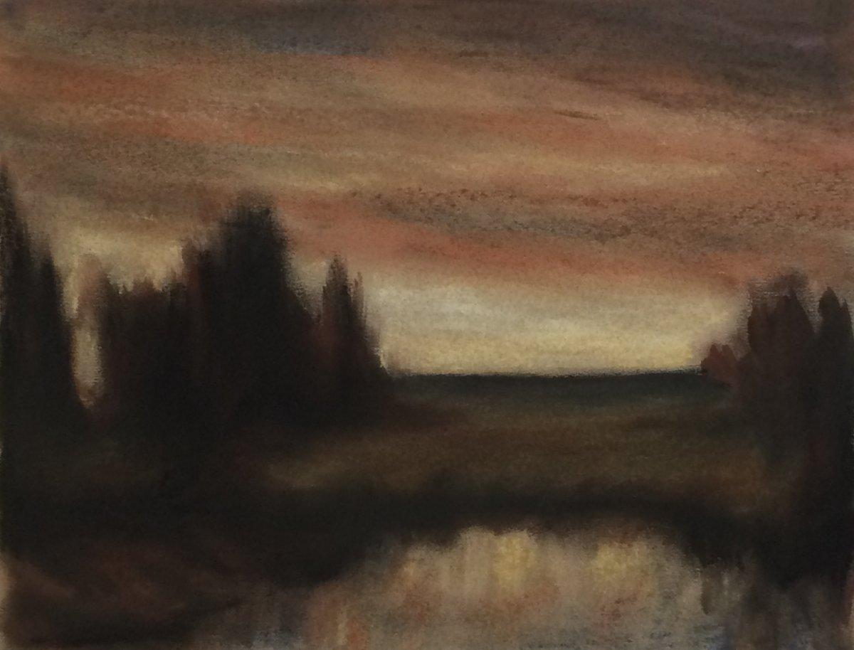 #P3: Tonal Landscape (Pastel on Paper, 30 x 32.5 cm)