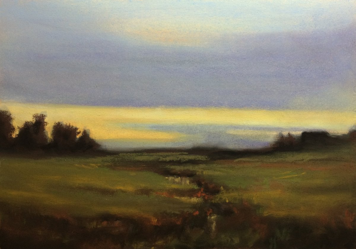 #P5: Marsh in Twilight (Pastel on Fabriano HP Paper)