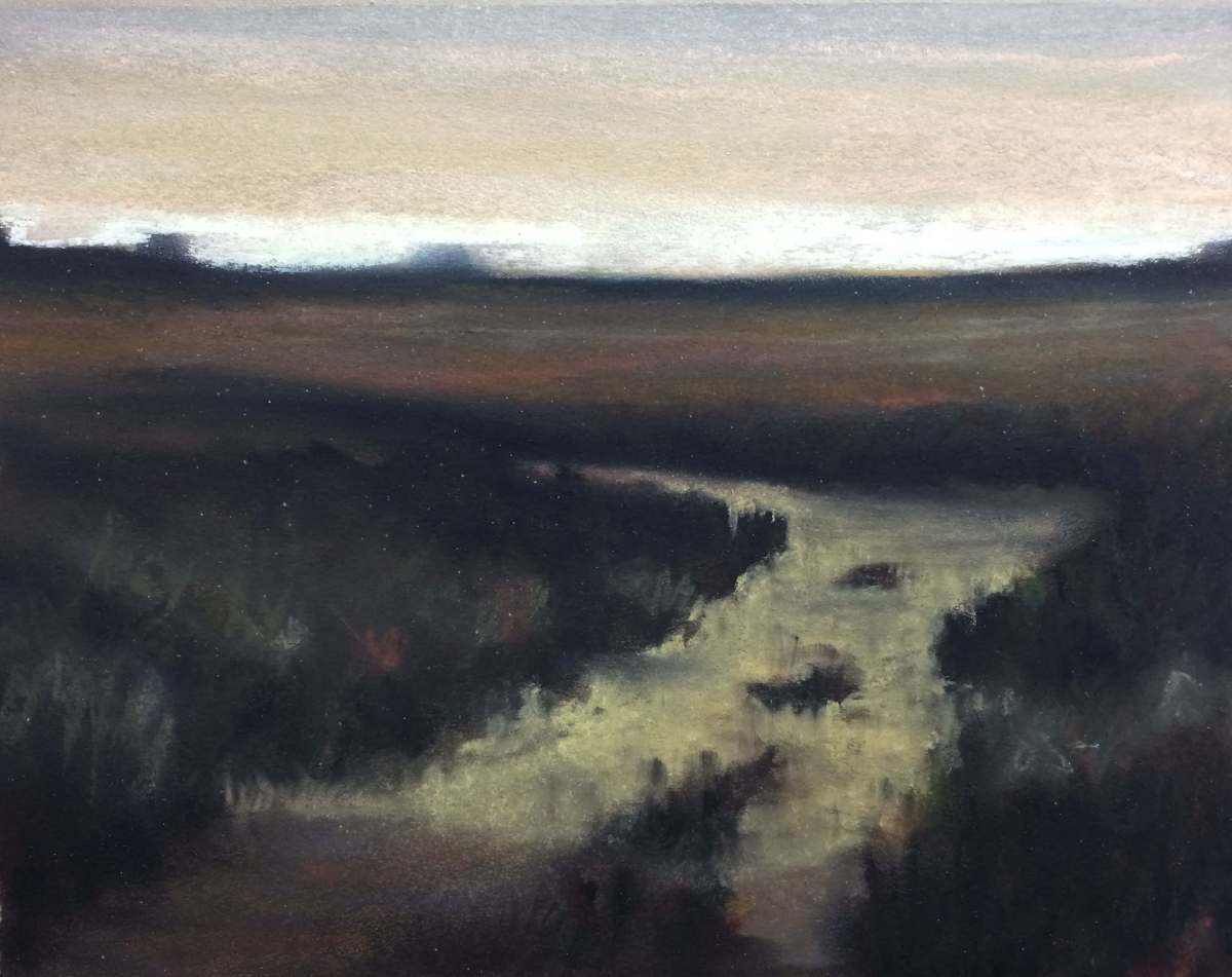 #C8: Tonal Landscape (pastel on paper, roughly A4 size)