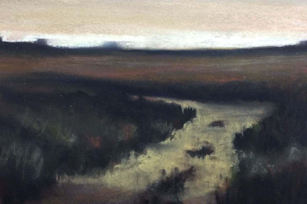 #C8: Tonal Landscape (pastel on paper, roughly A4 size)